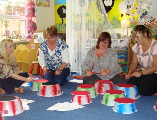 'Ready Steady Drum!' training for Staffordshire Infants School
